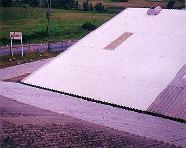 Nátěr azbestových vlnitých desek