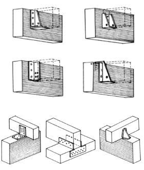 Spoje lepené vaznice s lepeným vazníkem - alternativy