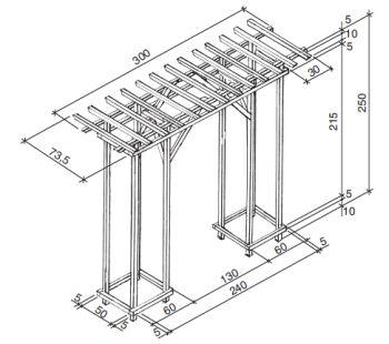Lehká pergola krabicové konstrukce
