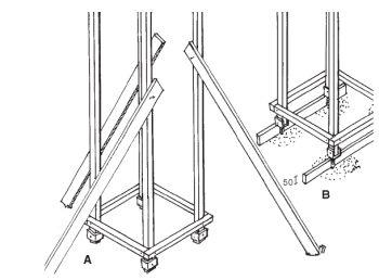 Zavětrování posavené konstrukce, 4B Zajištění úrovně uložení patek