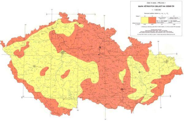 Mapa Vetrnych Oblasti Ceske Republiky Krytiny Strechy Cz