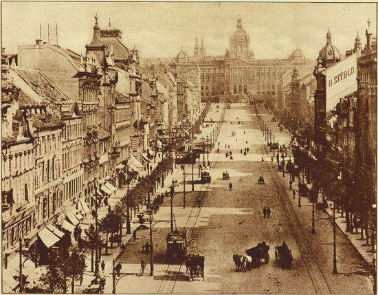 Vácalvské náměstí začátek 20.století
