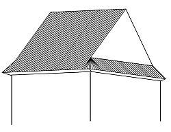 Sedlová střecha s valenou patou