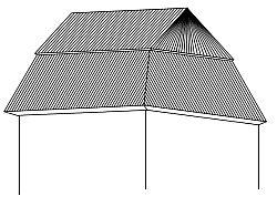Mansardová střecha zvalbená