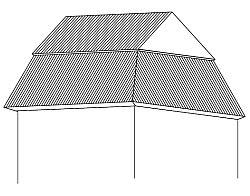 Mansardová střecha se zvalbeným spodkem