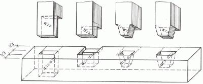 Pravoúhlé střední čepování (varianta II)