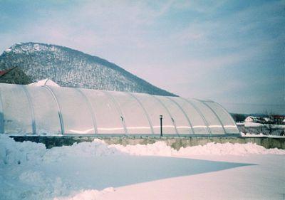 Zastřešení v zimě (J.F.C. CZ a.s.)