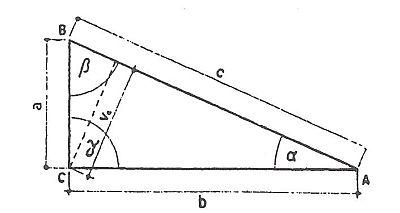 Výpočet plochy pravoúhlého trojúhelníku, zdroj: Grada