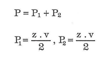 Vzorce pro výpočet plochy obecného čtyřúhelníku, zdroj: Grada