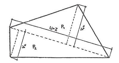Výpočet plochy obecného čtyřúhelníku, zdroj: Grada