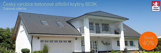 Akce na betonové tašky BESK 40%