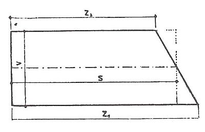 Výpočet plochy pravoúhlého lichoběžníku, zdroj: Grada