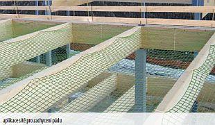 Horizontální ochranná síť z polypropylenu - Typu S, zdroj: Rothoblaas