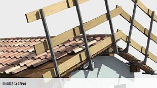 Dočasné zábradlí - boční provizorní ochrana, zdroj: Rothoblaas