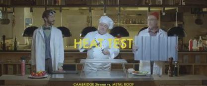 Video test IKO Cambridge Xtreme - odolnost proti teplu, zdroj videa IKO