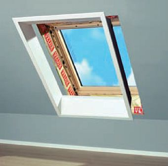 výměna starého střešního okna za nové s použitím ostění LSB, LSC, zdroj: Velux ČR