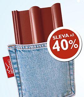Akční cena za střešní tašku Bramac, foto zdroj: Bramac