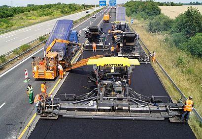 Ilustrační foto, silniční stavitelství