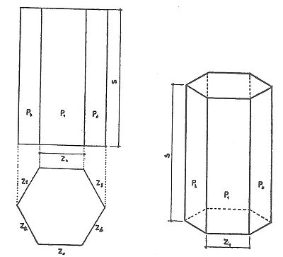 Výpočet plochy kolmého pravidelného hranolu, zdroj: Grada