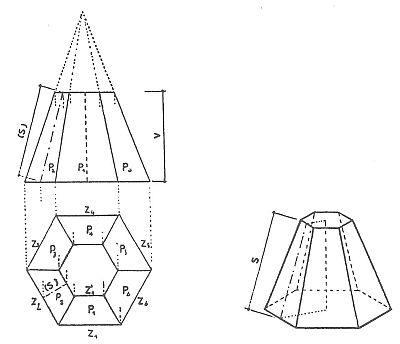Výpočet plochy komolého jehlanu, zdroj: Grada