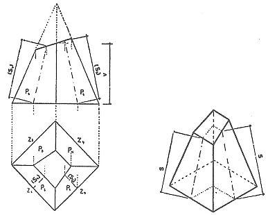 Výpočet plochy nepravidelného komolého jehlanu, zdroj: Grada