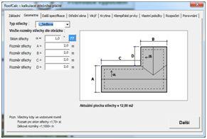 Aúplikace - kalkulátor RoofCalc