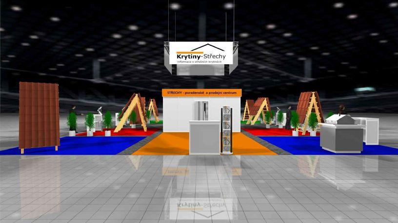 Vizualizace Stavebních veletrhů Brno 2016 pro výrobce střešních krytin