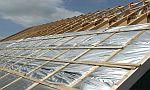 Ilustrační foto, zateplování šikmé střechy zhora