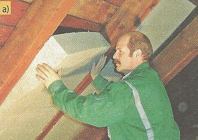 Zateplení - izolace mezi krokvemi montovaná z interiéru. Alternativní izolační materiály - celulózové izolační desky, zdroj: Homatherm