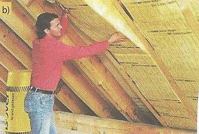 Zateplení - izolace mezi krokvemi montovaná z interiéru. Alternativní izolační materiály - skleněná vlna, zdroj: Saint Gobain, Isover