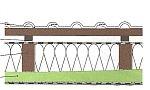 Pokud je to nutné, mohou se stávající krokve vyztužit, resp. se mohou zdvojit (v nákresu vyznačeno zeleně). Aby se redukovaly tepelné mosty, mohou se výztuhy montovat napříč ke krokvím (b), zdroj Grada