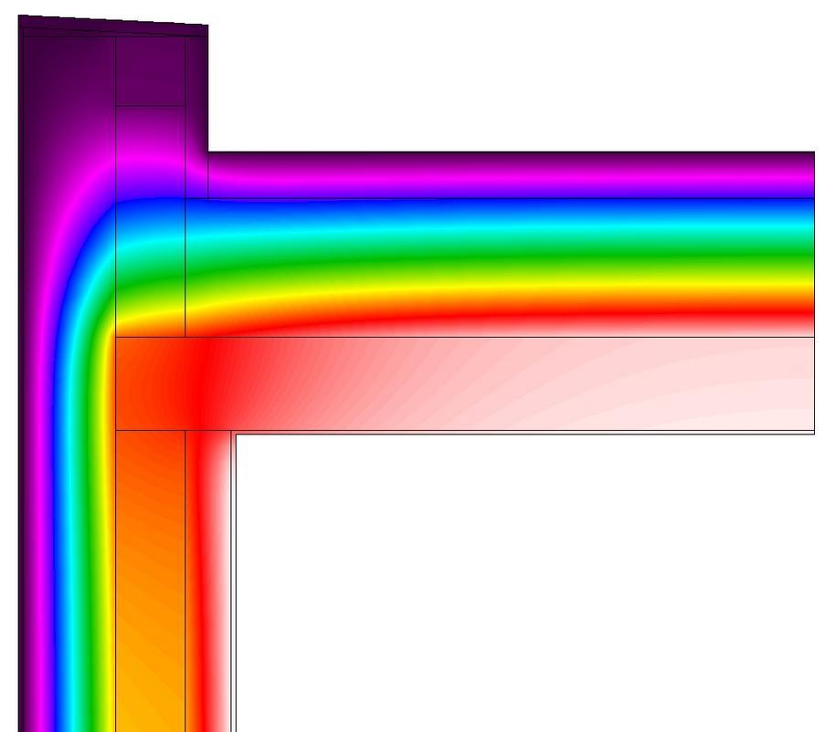 Jednoplášťová teplá střecha - termovize