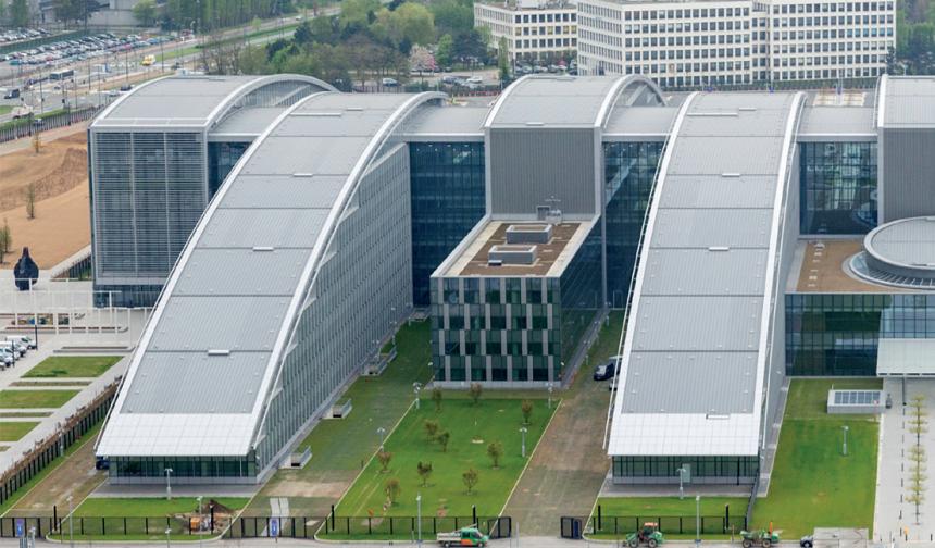 Centrála NATO v Bruselu - pohled z dálky