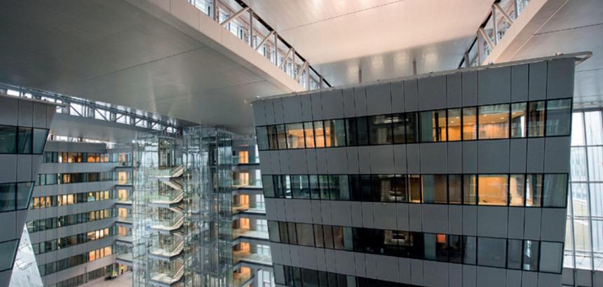 Interiér centrály NATO v Bruselu