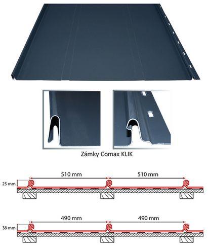 Střešní krytina Comax KLIK, zdroj: Střechy Comax