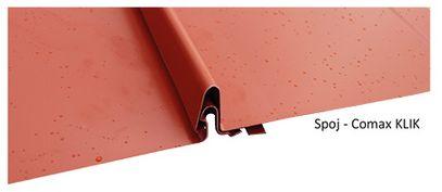 Střešní krytina Comax KLIK - spoj, zdroj: Střechy Comax