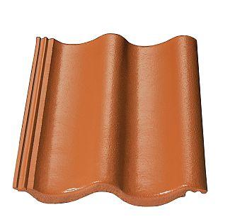 Betonová střešní taška KM Beta Hodonka cihlová, foto zdroj: KM Beta