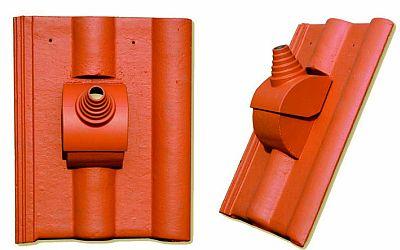 Betonová taška s anténní průchodkou, zdroj: KM Beta