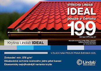 Střešní krytina Lindab Ideal, akční cena, zdroj: LINDAB