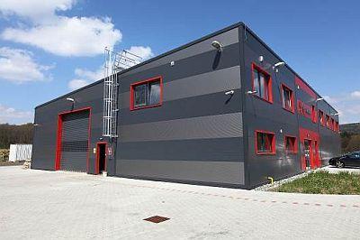 Novostavba výrobní, skladovací a administrativní hala MS Praha Cvikov, zdroj: Lindab a.s.
