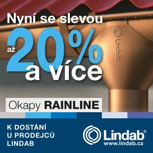 Akce 20% sleva na okapy Rainline od Lindabu