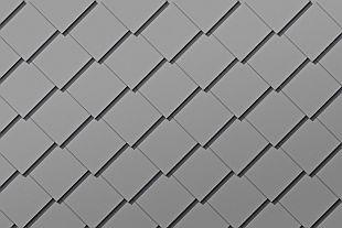 Střešní a fasádní falcovaná šablona 44x44, zdroj: PREFA Aluminiumprodukte