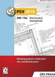 Katalog 800-764 Konstrukce klempířské (část A05) se zařazenými soubory směrných cen na provádění střešních krytin z titanzinku