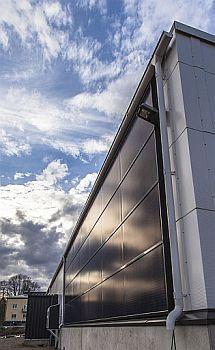 Stěnové solární panely RUUKKI, foto zdroj Ruukki