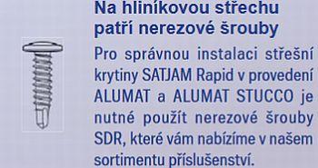 Doplňky k montáži střešní krytiny Satjam Rapid, zdroj: Satjam