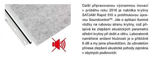 Tlumivá vložka na spodní straně krytiny  - protihluková úprava Soundcontrol, zdroj: SATJAM s.r.o.