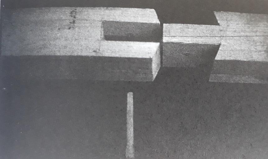 Ostřih na obou stranách šikmo podříznutý zajištěný dřevěným kolíkem