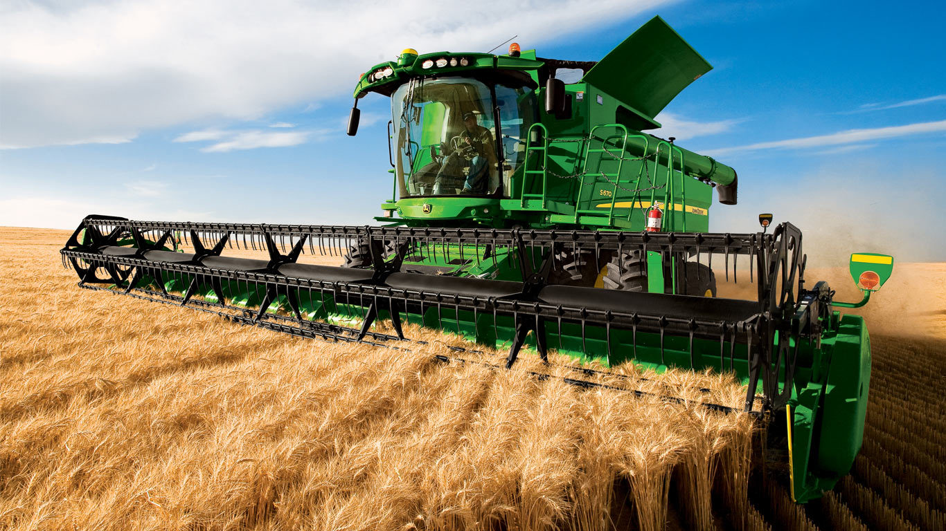 Půda a zemědělství, kombajn