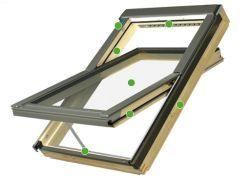 FAKRO - kyvné střešní okno FTU - V U3 Z-Wave - energeticky úsporné dvojsklo U3