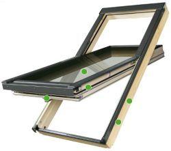 FAKRO - super energeticky úsporné kyvné střešní okno FTT - U8 Thermo - pasivní zasklení U8